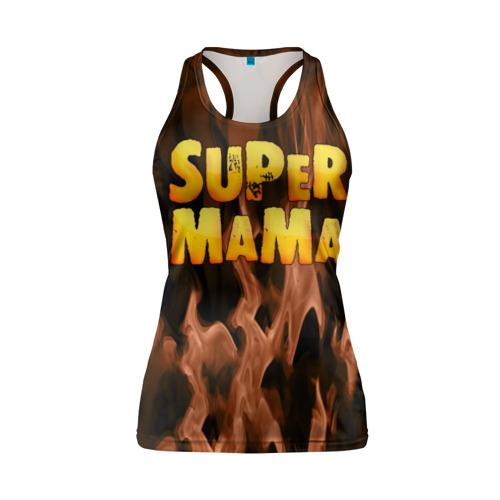Женская майка 3D спортивная  Фото 01, Супер мама