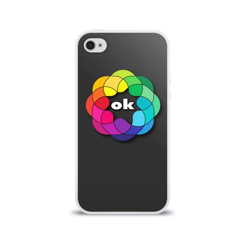 Чехол для Apple iPhone 4/4S силиконовый глянцевый  Фото 01, Окей