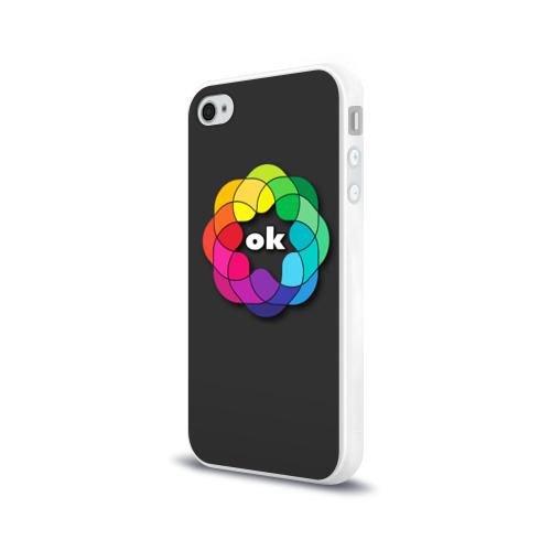 Чехол для Apple iPhone 4/4S силиконовый глянцевый  Фото 03, Окей