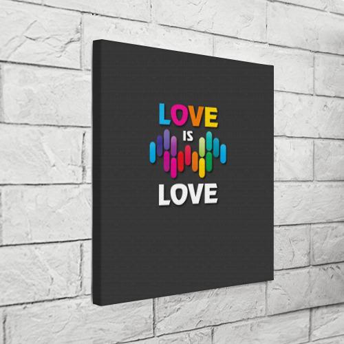Холст квадратный Love is love