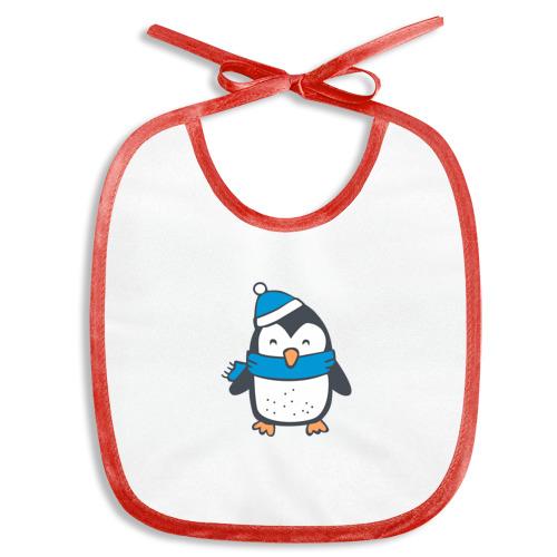 Слюнявчик  Фото 01, пингвин