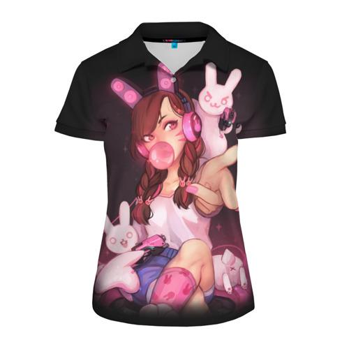 Женская рубашка поло 3D D.Va