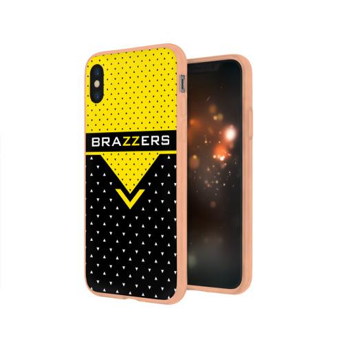 Чехол для iPhone X глянцевый Brazzers Фото 01