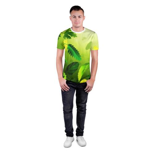 Мужская футболка 3D спортивная  Фото 04, Зелёный мир