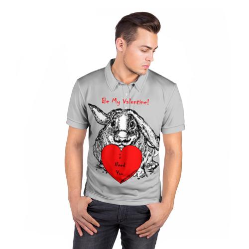 Мужская рубашка поло 3D  Фото 05, Be my Valentine