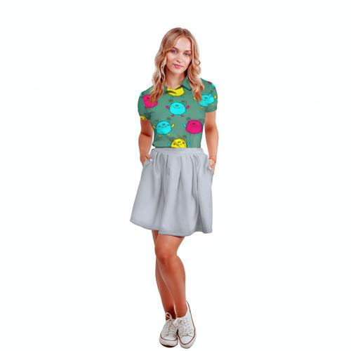 Женская рубашка поло 3D  Фото 04, Монстрики