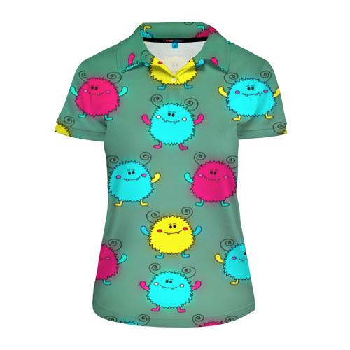 Женская рубашка поло 3D  Фото 01, Монстрики