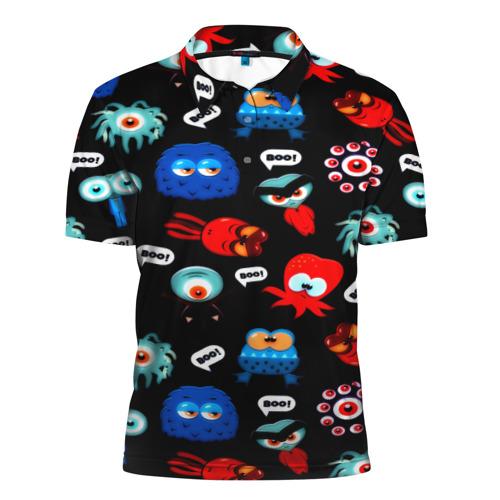 Мужская рубашка поло 3D  Фото 01, Милые монстры