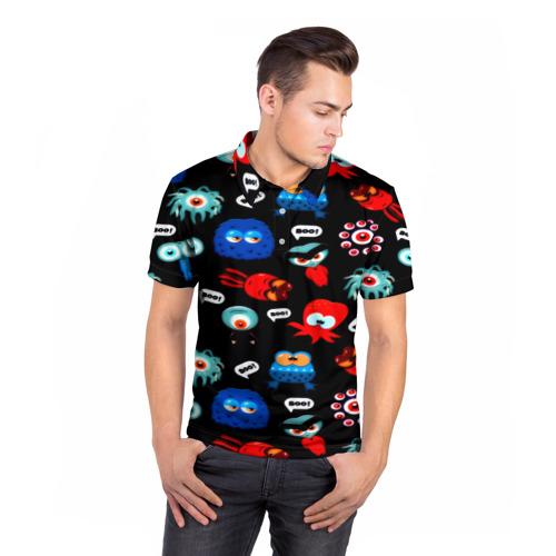 Мужская рубашка поло 3D  Фото 05, Милые монстры