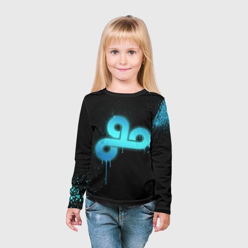 Детский лонгслив 3D  Фото 03, cs:go - Cloud 9 (Black collection)
