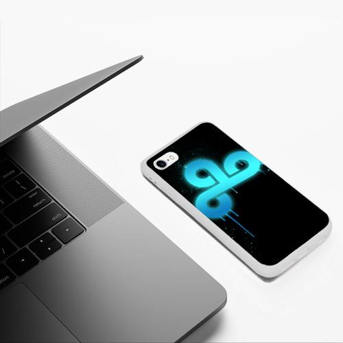 Чехол для iPhone 6/6S матовый cs:go - Cloud 9 (Black collection) Фото 01