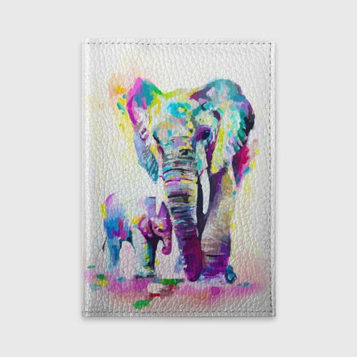 Обложка для автодокументов  Фото 01, Слоны