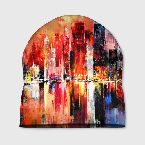 Шапка 3D  Фото 01, Ночной город