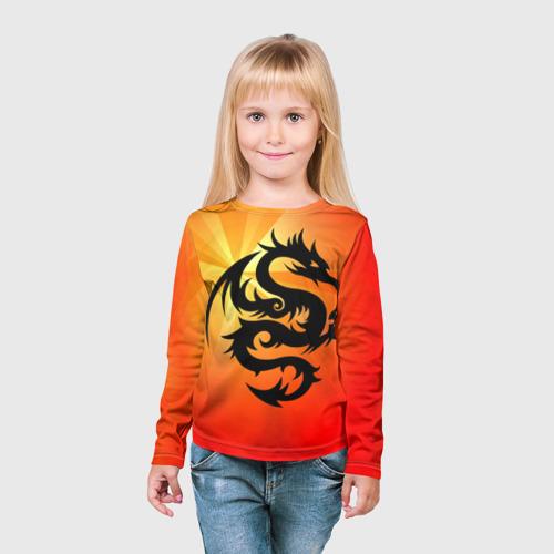 Детский лонгслив 3D  Фото 03, Дракон