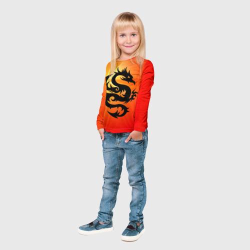 Детский лонгслив 3D  Фото 04, Дракон