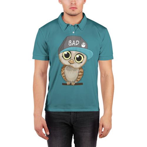 Мужская рубашка поло 3D  Фото 03, Сова мальчик (парная)
