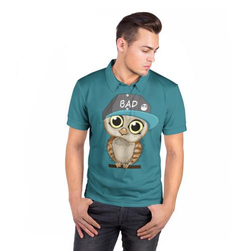 Мужская рубашка поло 3D  Фото 05, Сова мальчик (парная)