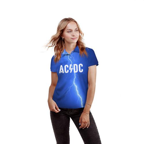 Женская рубашка поло 3D  Фото 03, AC/DC