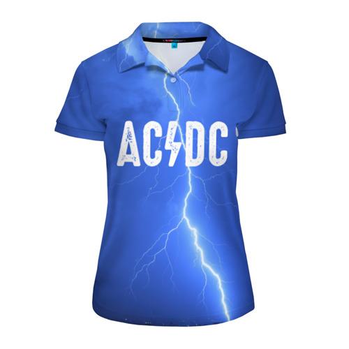 Женская рубашка поло 3D  Фото 01, AC/DC