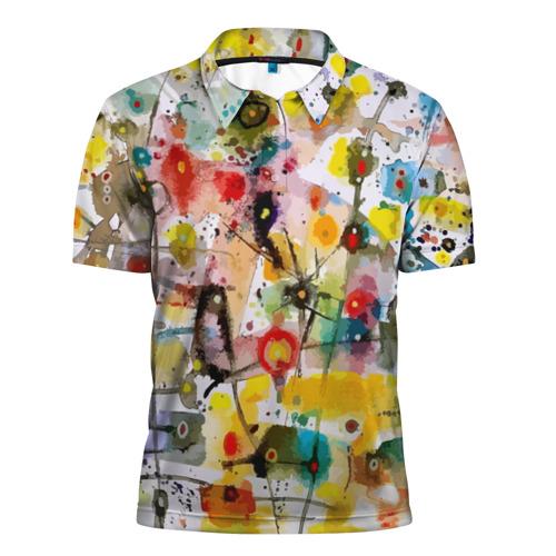 Мужская рубашка поло 3D  Фото 01, Абстрактное искусство