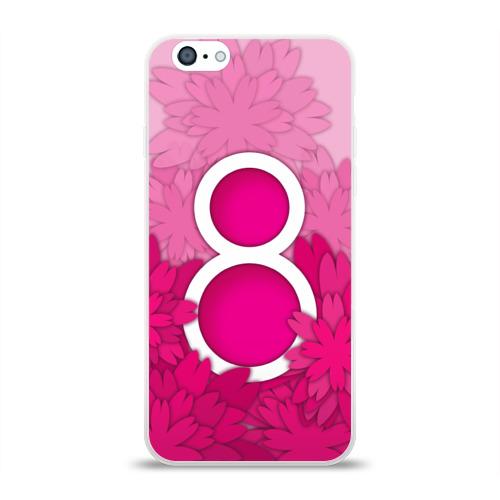 Чехол для Apple iPhone 6 силиконовый глянцевый  Фото 01, 8 марта