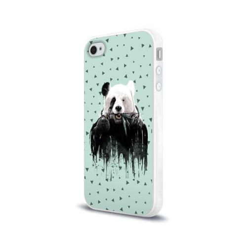 Чехол для Apple iPhone 4/4S силиконовый глянцевый  Фото 03, Панда-художник