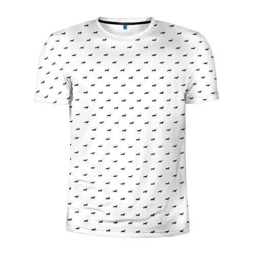 Мужская футболка 3D спортивная  Фото 01, Таксы