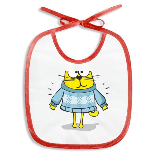 Слюнявчик  Фото 01, Кот в бабушкином свитере