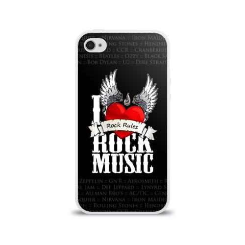 Чехол для Apple iPhone 4/4S силиконовый глянцевый  Фото 01, Rock Rules