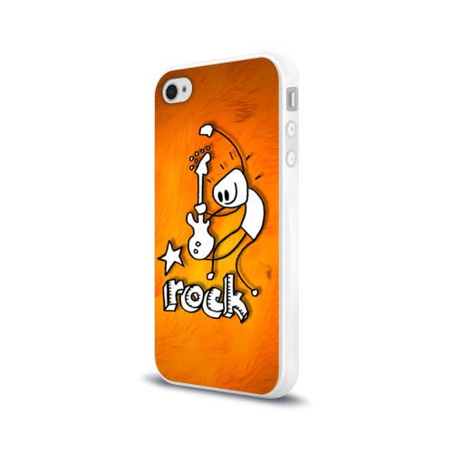 Чехол для Apple iPhone 4/4S силиконовый глянцевый  Фото 03, rock