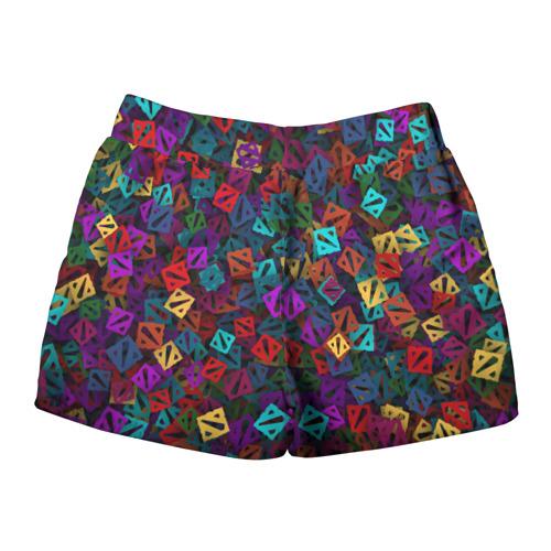 Женские шорты 3D  Фото 02, Стикербомбинг из логотипов
