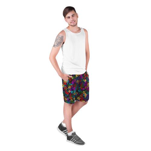 Мужские шорты 3D Стикербомбинг из логотипов Фото 01