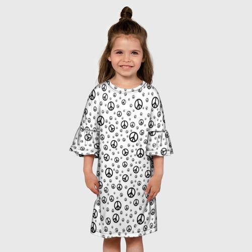 Детское платье 3D  Фото 01, Peace Symbol