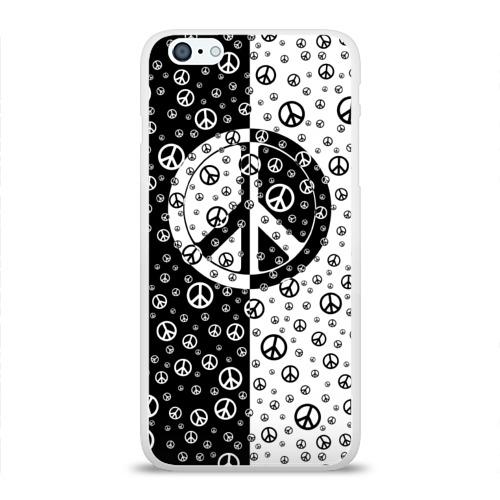 Чехол для Apple iPhone 6Plus/6SPlus силиконовый глянцевый  Фото 01, Peace Symbol