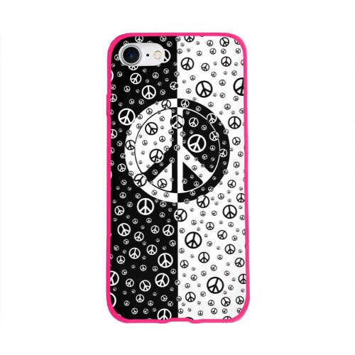 Чехол для Apple iPhone 8 силиконовый глянцевый  Фото 01, Peace Symbol