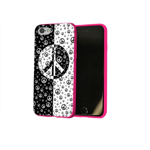 Чехол для Apple iPhone 8 силиконовый глянцевый  Фото 02, Peace Symbol