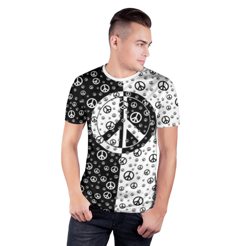 Мужская футболка 3D спортивная  Фото 03, Peace Symbol