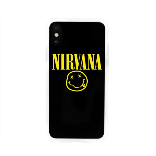 Чехол для Apple iPhone X силиконовый глянцевый  Фото 01, Nirvana
