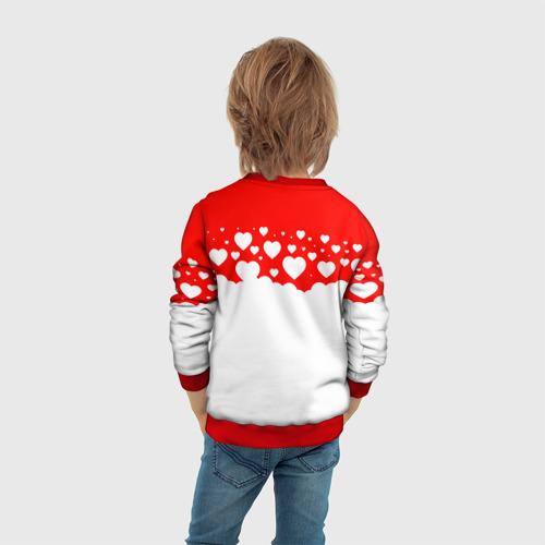 Детский свитшот 3D Сердечки Фото 01