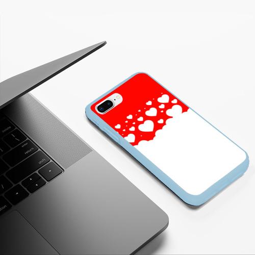 Чехол для iPhone 7Plus/8 Plus матовый Сердечки Фото 01