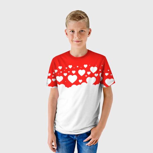 Детская футболка 3D Сердечки