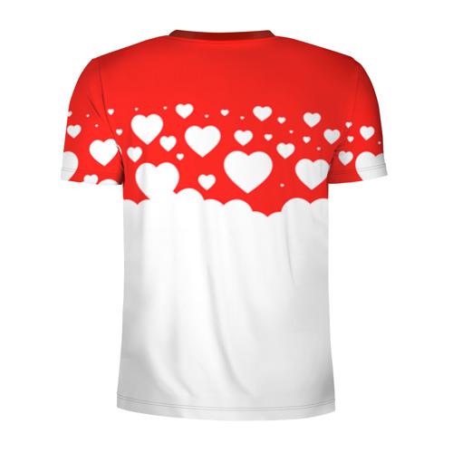 Мужская футболка 3D спортивная Сердечки Фото 01