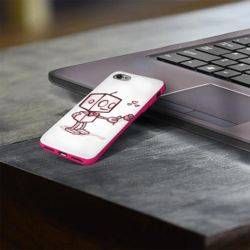 Чехол для Apple iPhone 8 силиконовый глянцевый Робот-мальчик Фото 01
