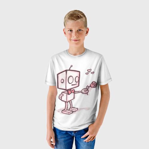 Детская футболка 3D Робот-мальчик