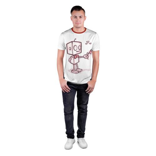 Мужская футболка 3D спортивная Робот-мальчик Фото 01