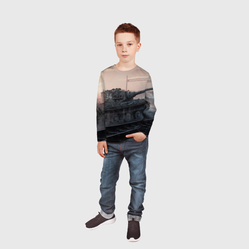 Детский лонгслив 3D  Фото 05, Танки