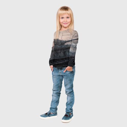 Детский лонгслив 3D  Фото 04, Танки