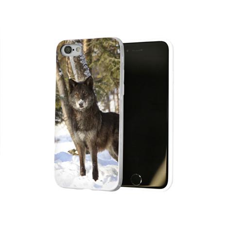 Чехол для Apple iPhone 8 силиконовый глянцевый  Фото 02, Король леса