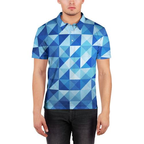 Мужская рубашка поло 3D  Фото 03, Кубизм