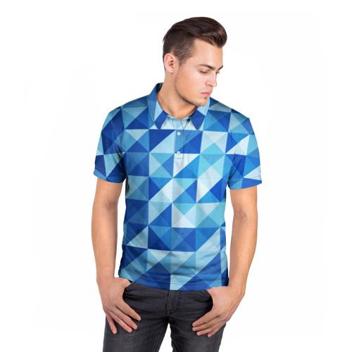 Мужская рубашка поло 3D  Фото 05, Кубизм